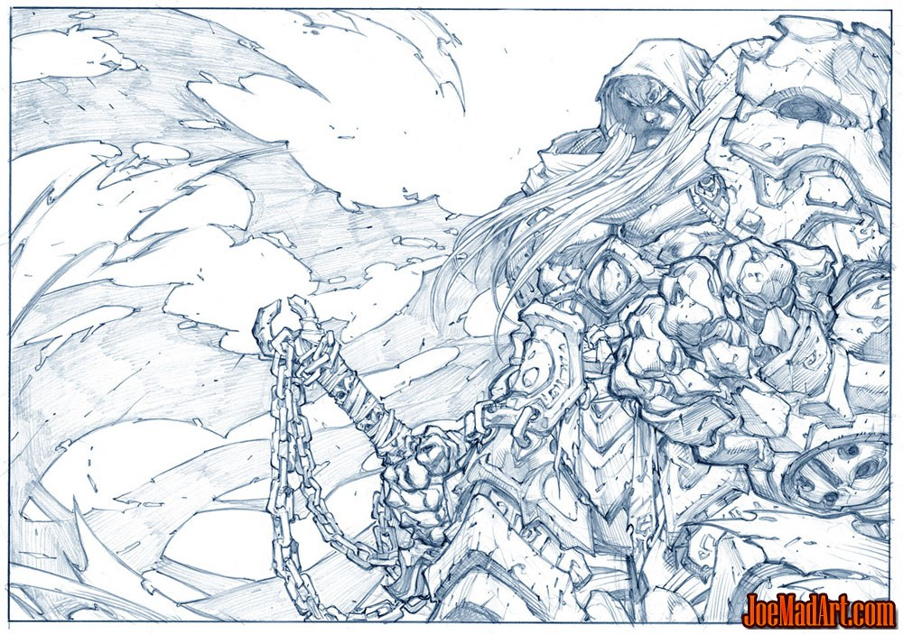 Darksiders: War promo art / Wallpaper (Pencil)