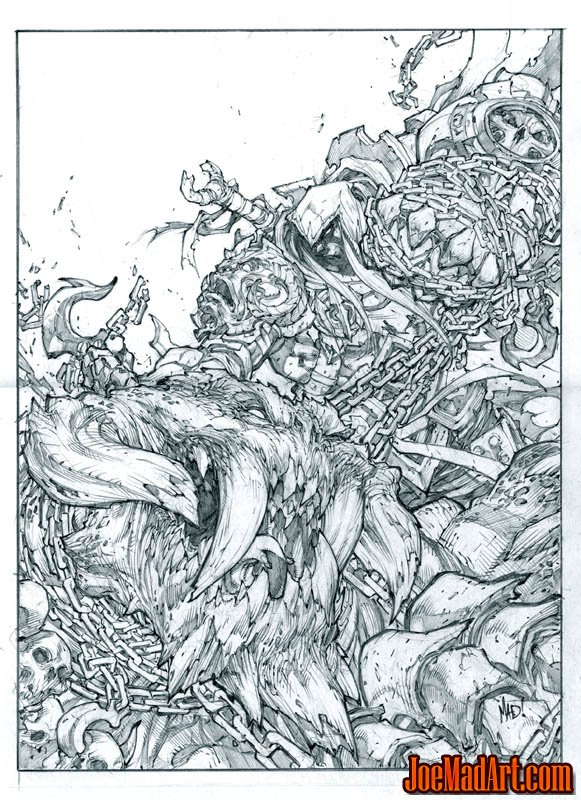 Darksiders: War vs Trauma promo art (Pencil)