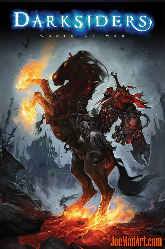 Darksiders box art with War & Ruin (Color)