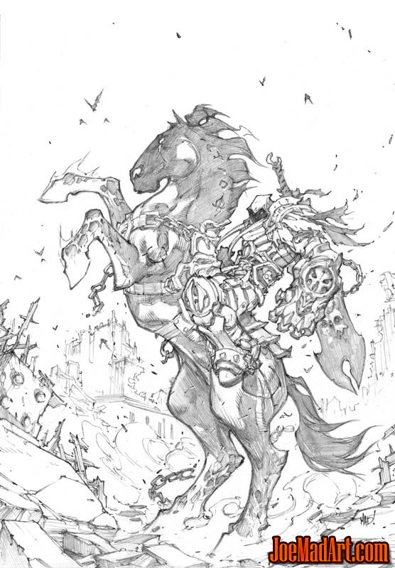 Darksiders box art with War & Ruin (Pencil)