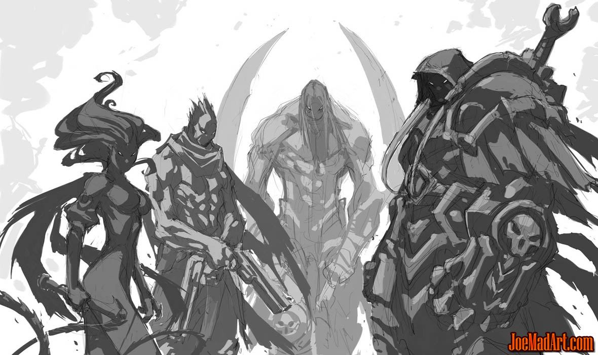 Darksiders in-game cutscene concept art (Sketch)