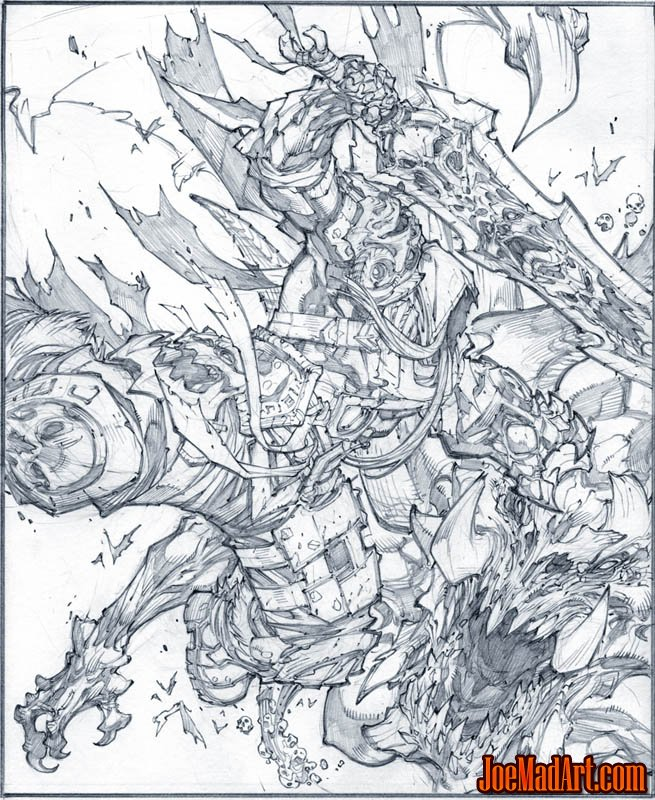 Darksiders: Play mag cover (2008/08) (Pencil)