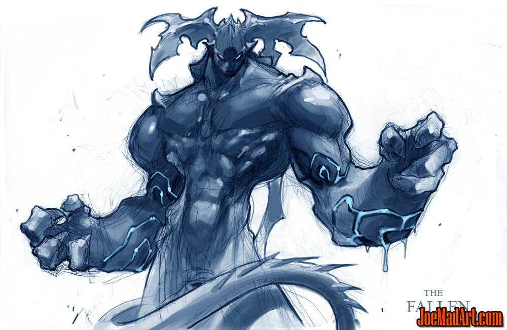 Darksiders The Fallen early sketch concept art (Texture)