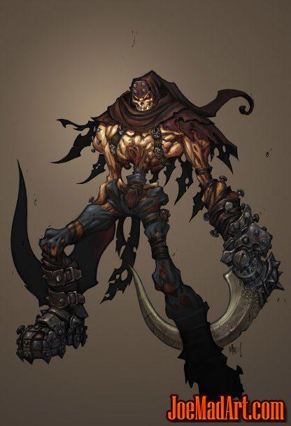 Darksiders unsued Skeleton concept art (Color)
