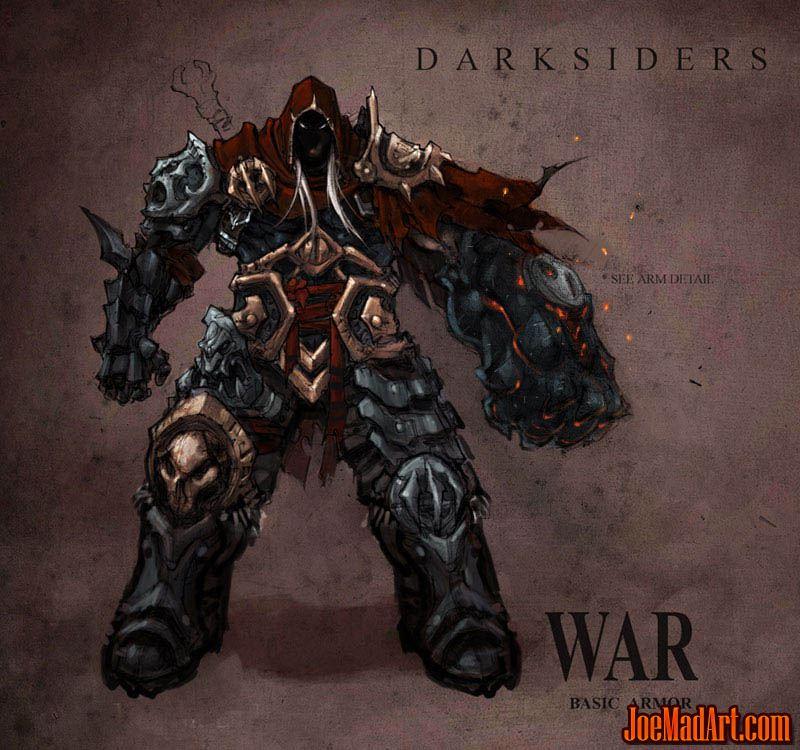 Darksiders War basic armor concept art (Color)