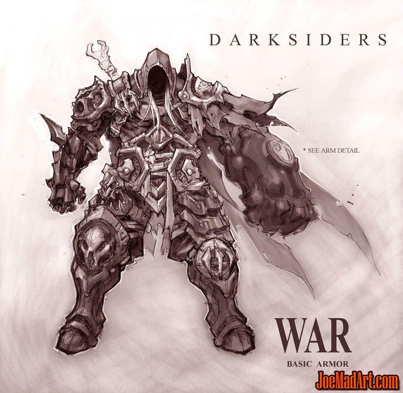 Darksiders War basic armor concept art (Texture)