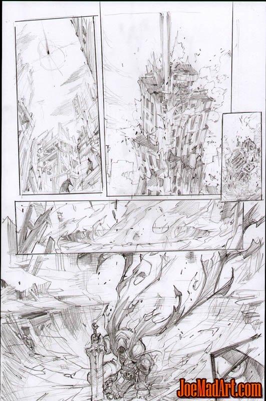 Darksiders War birth scene 3 concept art (Pencil)