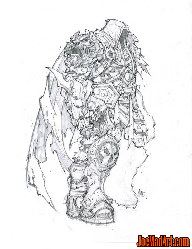 Darksiders concept art: War with a cape (Pencil)