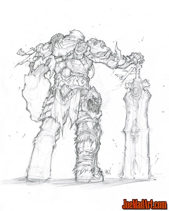 Darksiders War concept art sketch  (Pencil)