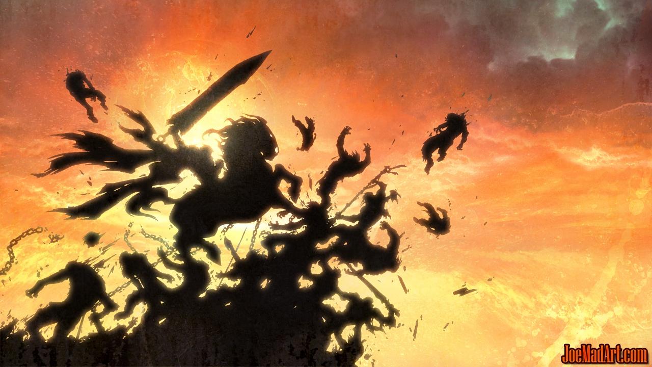 Darksiders War & Ruin in game splash art (Color)