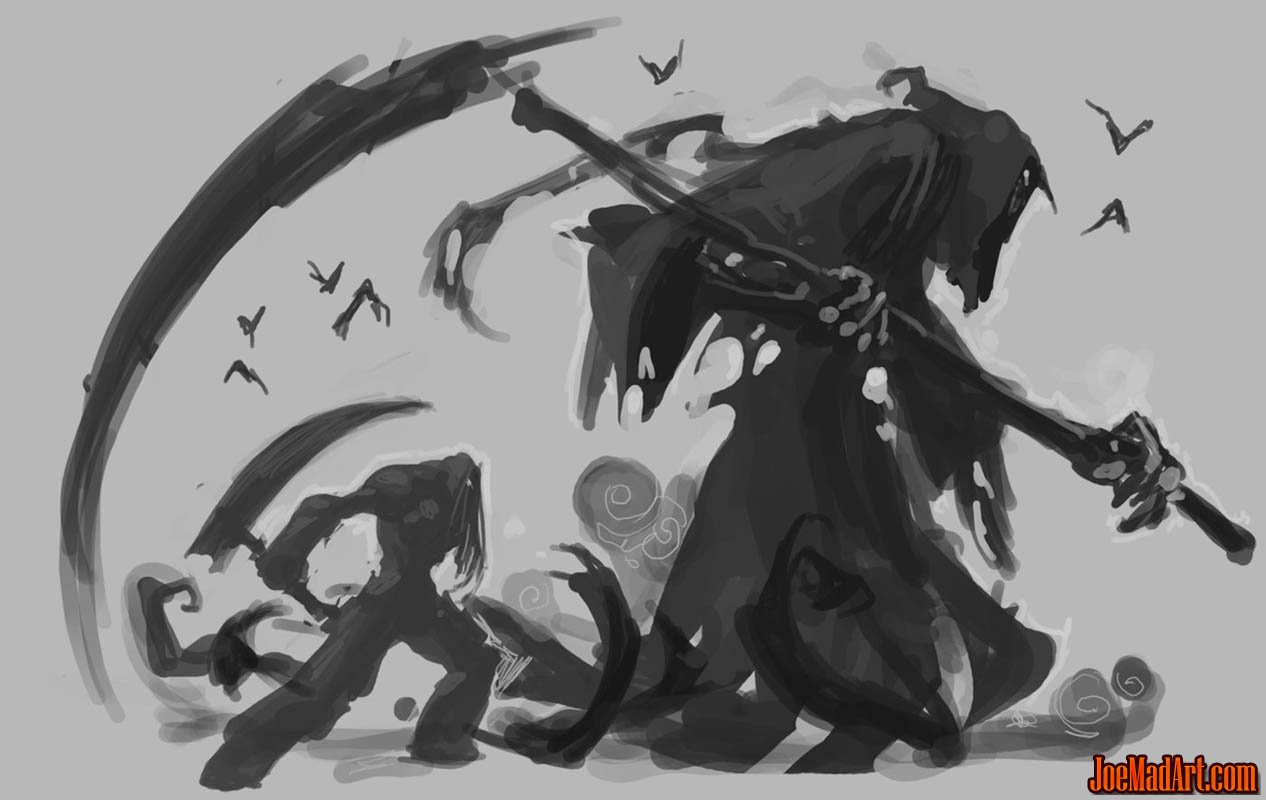 joemadart.com: Darksiders 2 Death Reaper form classic ...