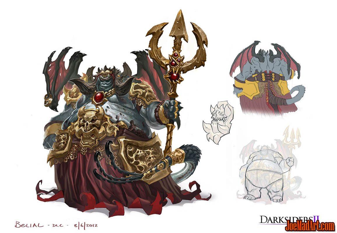 Darksiders 2 Belial (Boss) concept art (Color)