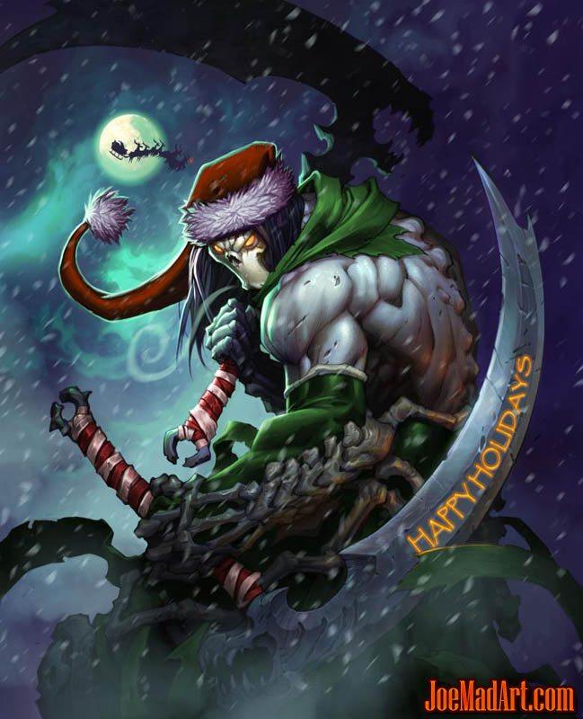 Darksiders II Death special Christmas art (Color)