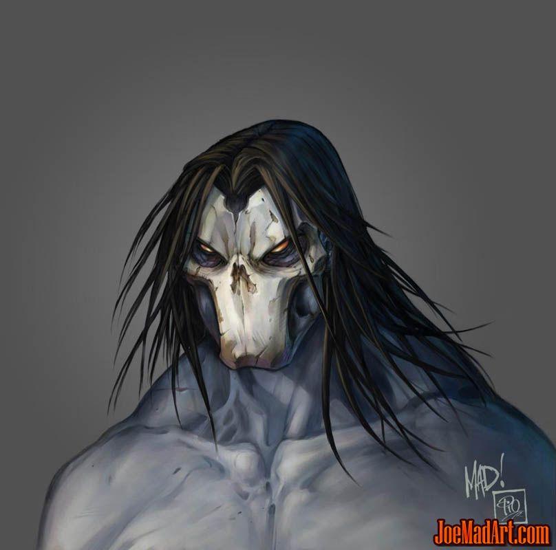 Darksiders 2 Death face concept arts (Color)