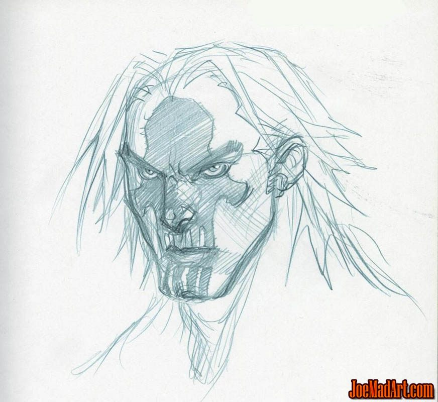 DarksidersII Death without mask rejected concept art (Pencil)