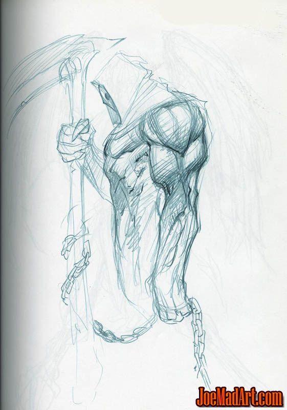 DarksidersII Death very first rough sketch (Pencil)