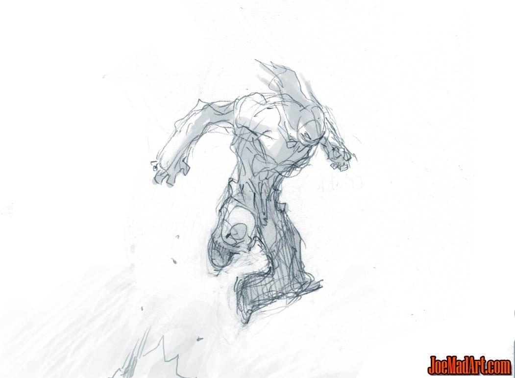 Darksiders II Death standard jump concept art (Sketch)