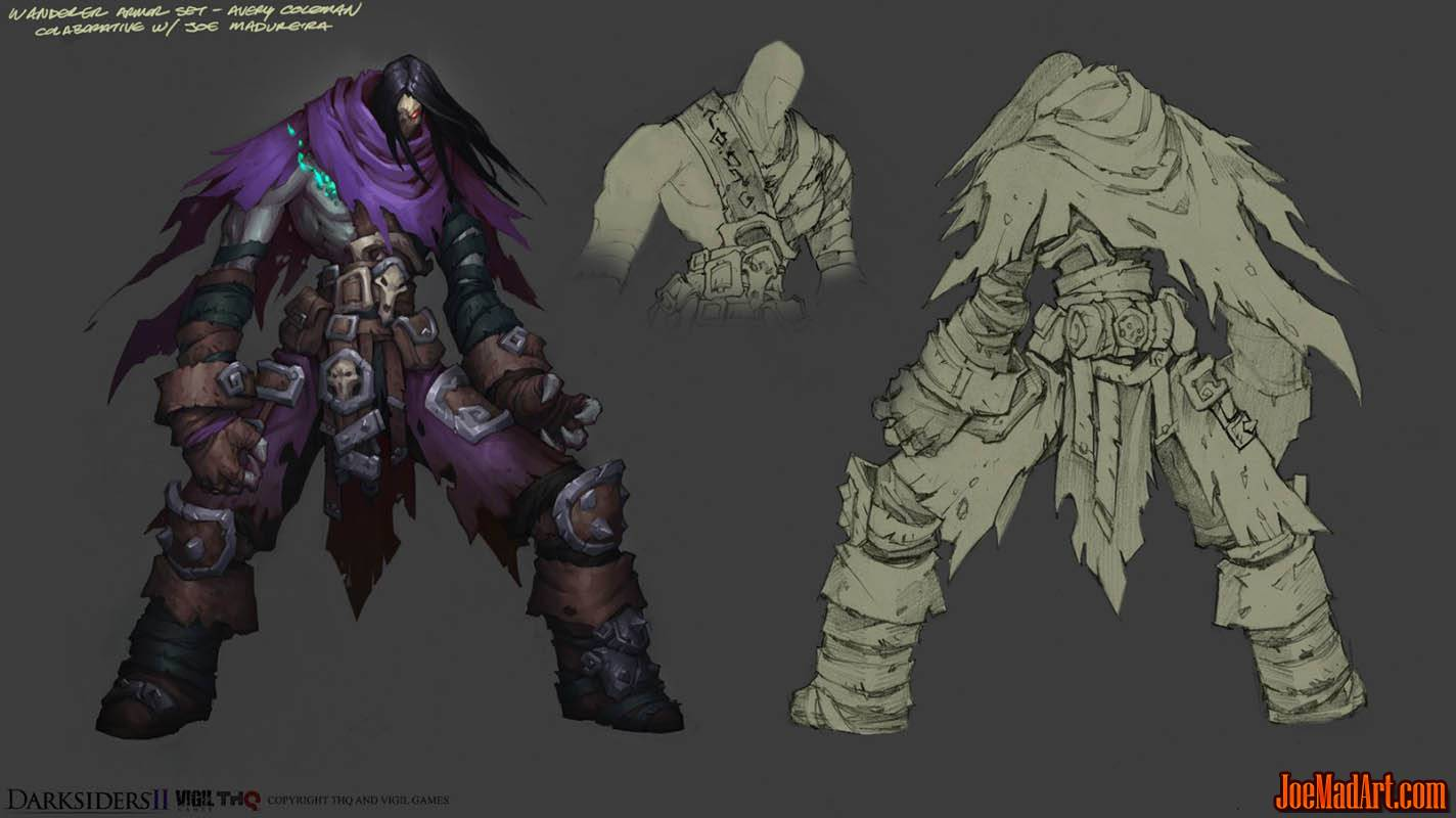 DarksidersII Death Wanderer armor concept art  (Color)