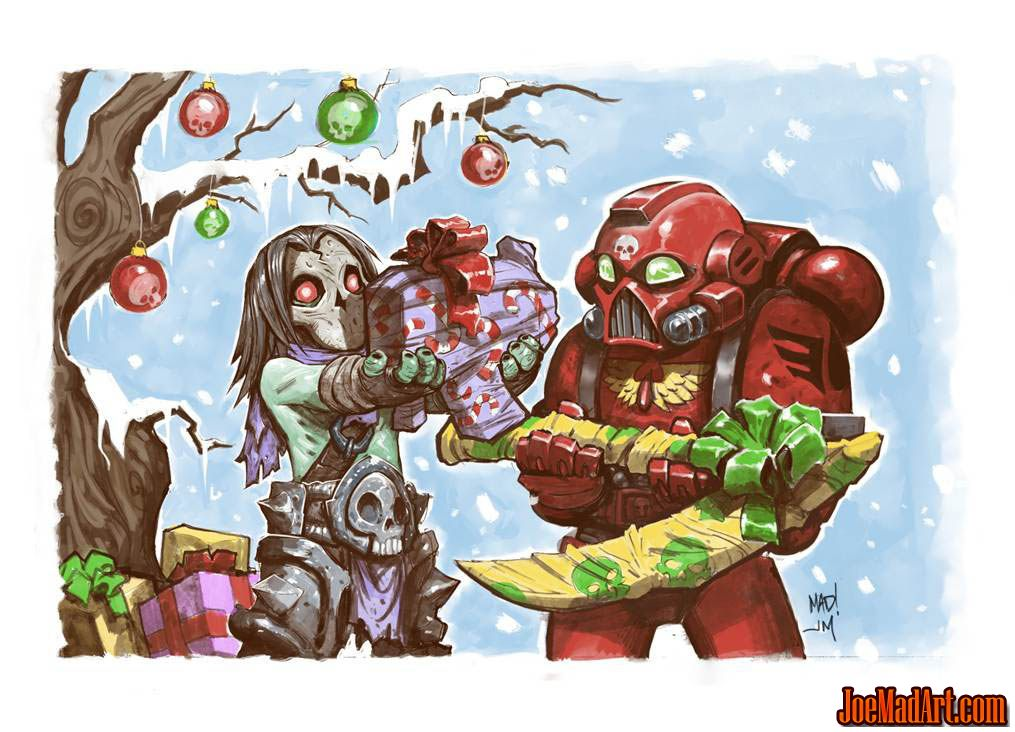 Darksiders II & Warhamer 40K DMO special Christmas card (Color)