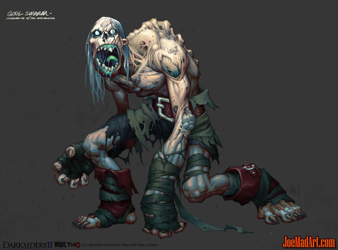 DarksidersII Ghoul Swarm concept art (Color)
