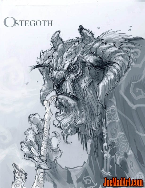 DarksidersII Ostegoth sketch concept art (Pencil)