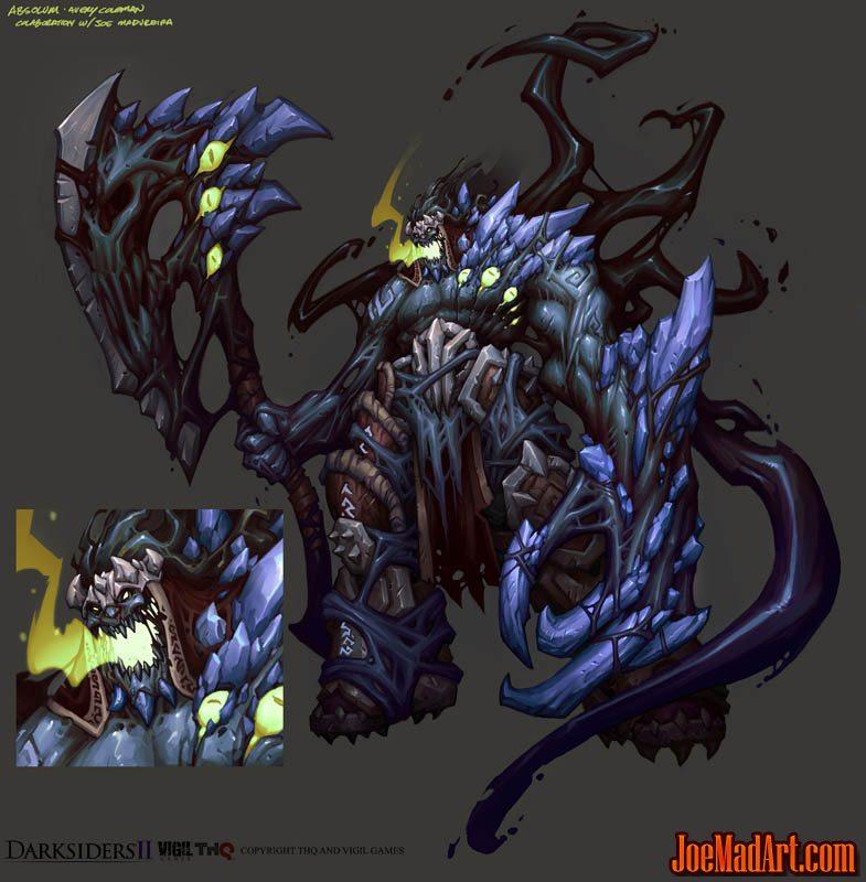 DarksidersII boss Absalom concept art (Color)
