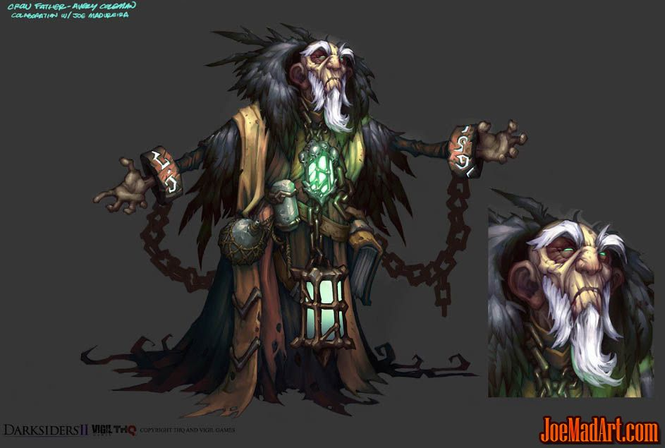 DarksidersII the Crow Father concept art (Color)