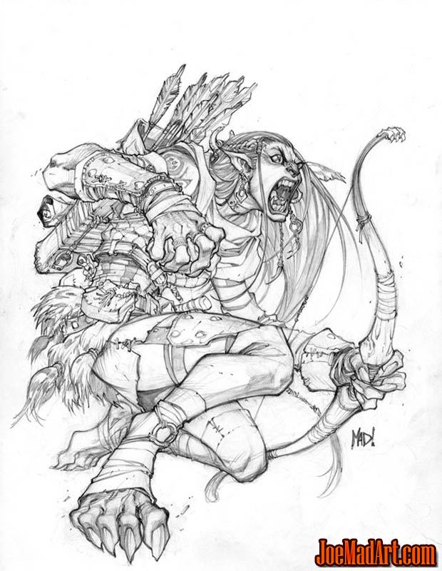 Dungeons & Dragons Aspect of the Werebeast (Pencil)