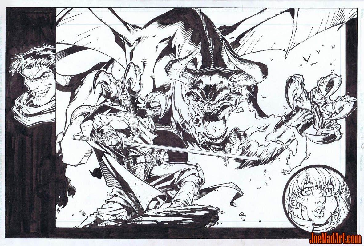 Frank Frazetta Fantasy Illustrated pages 34-35 (Ink)