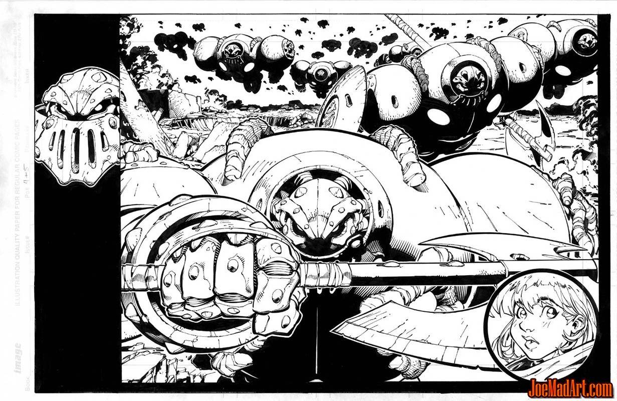 Frank Frazetta Fantasy Illustrated pages 36-37 (Ink)