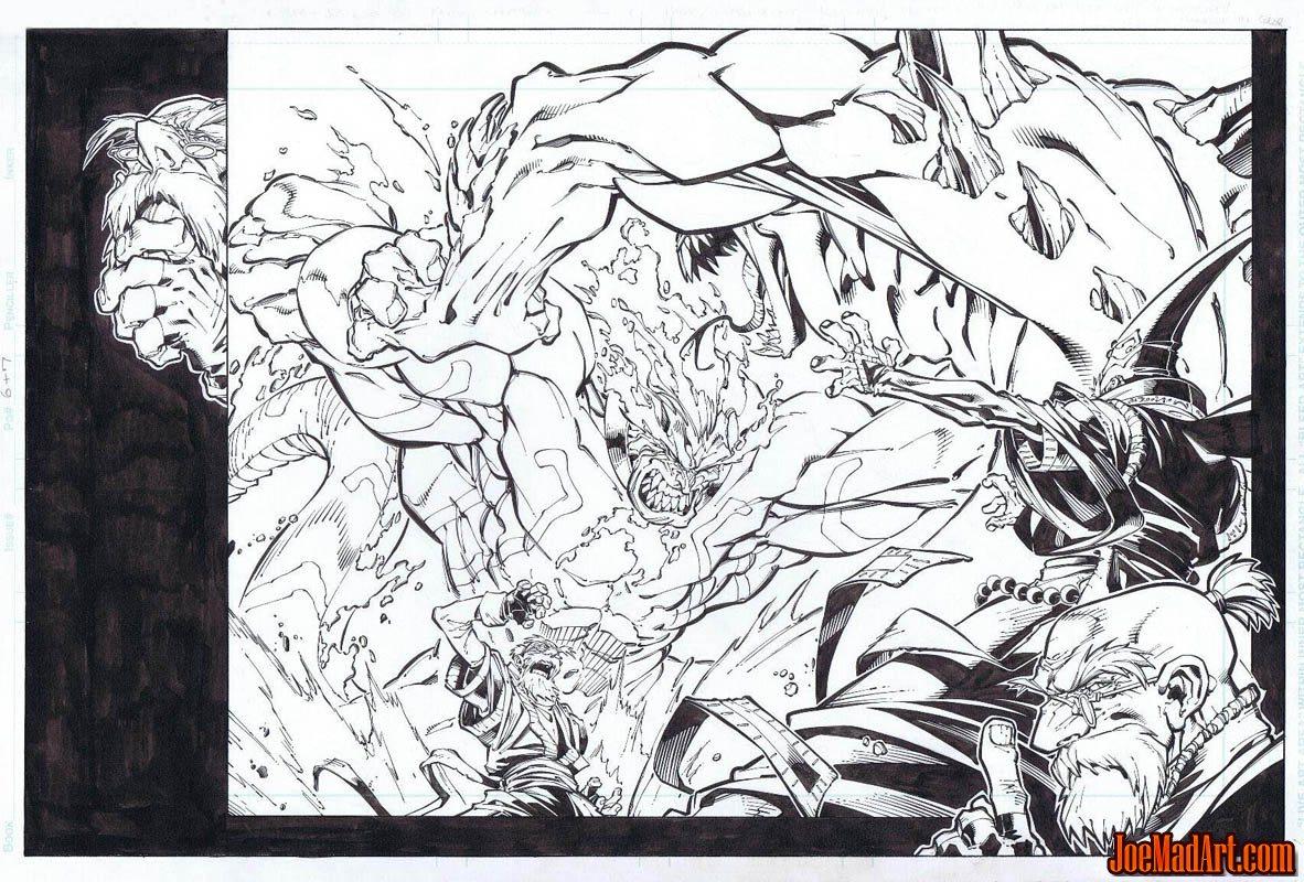 Frank Frazetta Fantasy Illustrated pages 38-39 (Ink)