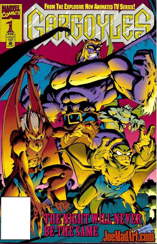 Gargoyles Vol #1 comic #1 cover (Color)