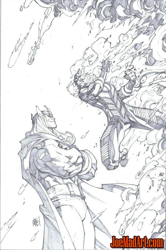 Inhuman #6 variant cover (Pencil)
