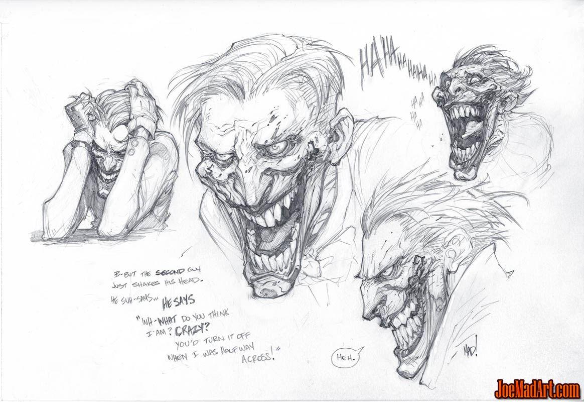 Joker warm-up doodle (Pencil)