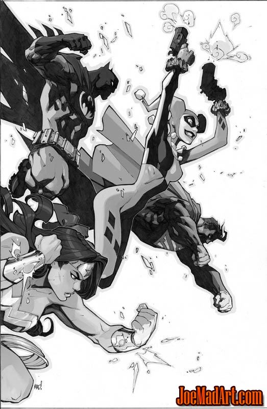 Justice League of America #6 variant cover (JLA) (Ink)