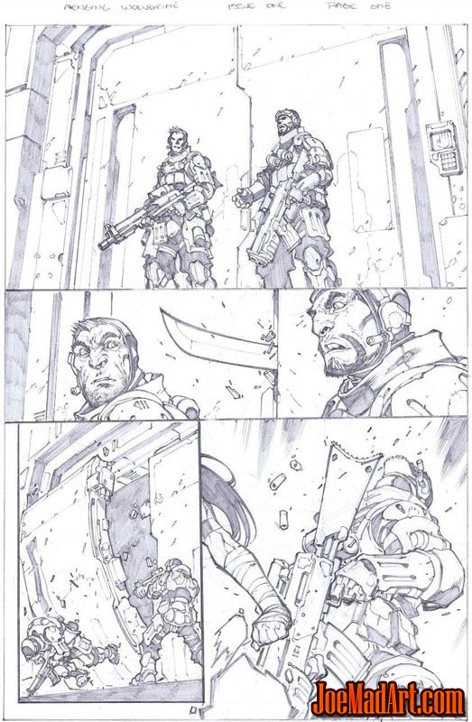 Savage Wolverine issue #6 page 1 (Pencil)