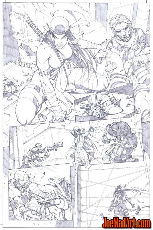 Savage Wolverine issue #6 page 2 (Pencil)