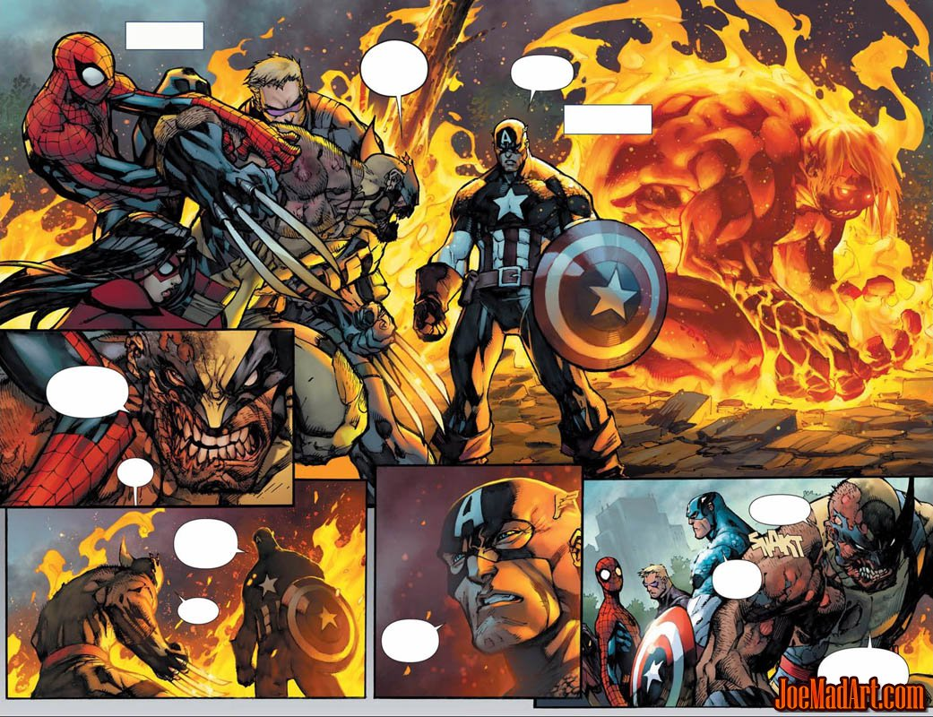 Savage Wolverine issue #6 double page 6 and page 7 (Color)