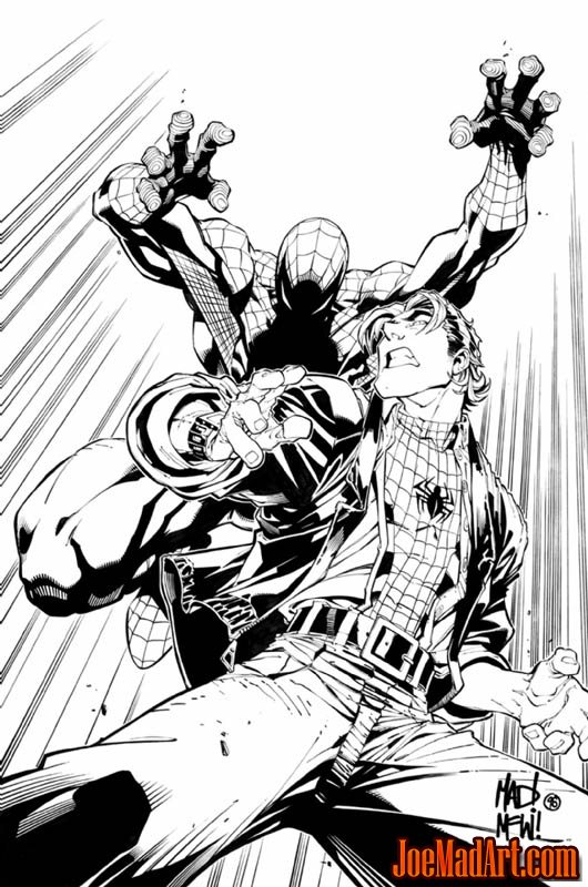 Spider-Man: The Manga Vol 1 #28/#29 cover (Ink)