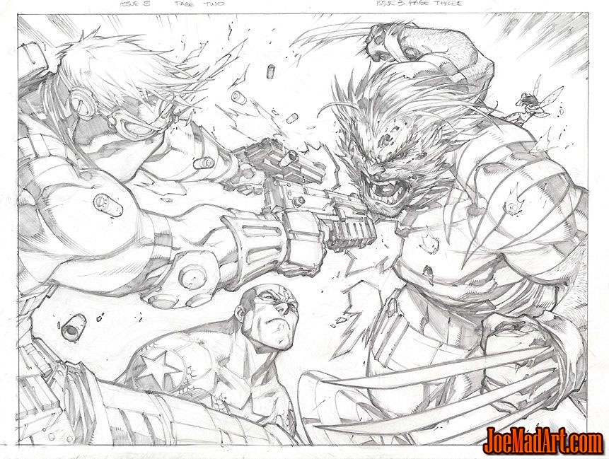 Ultimates3 Mini-series issue #3 double page 2-3 (Pencil)