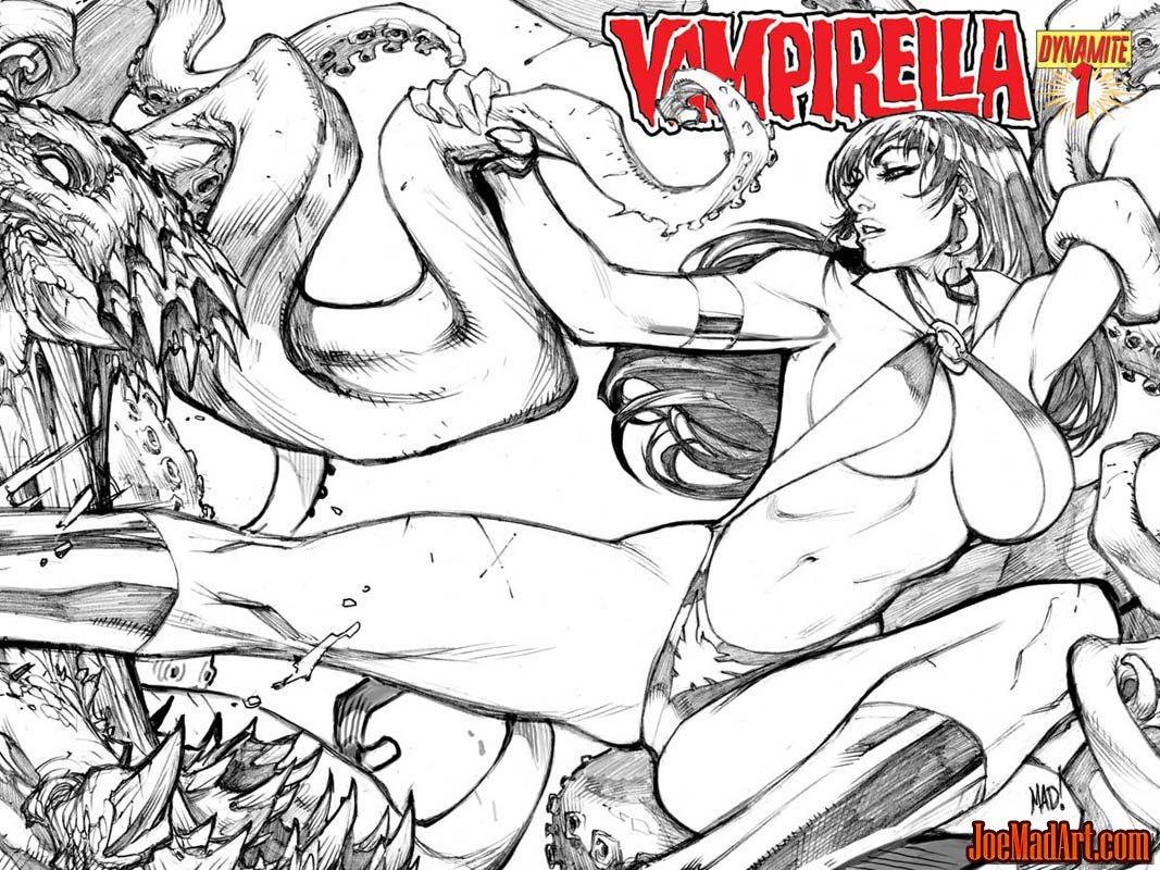 Vampirella #1 2010 series covers (Pencil)