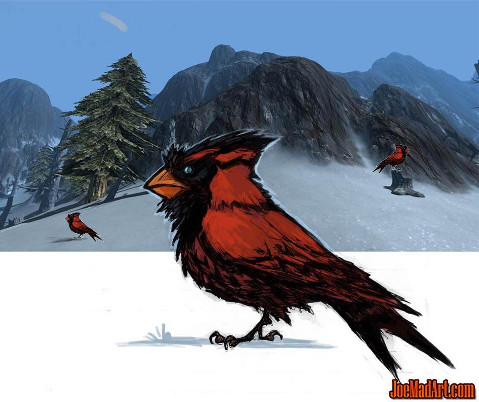 Exploration stuff: cardinal like creature (Unused) (Color)