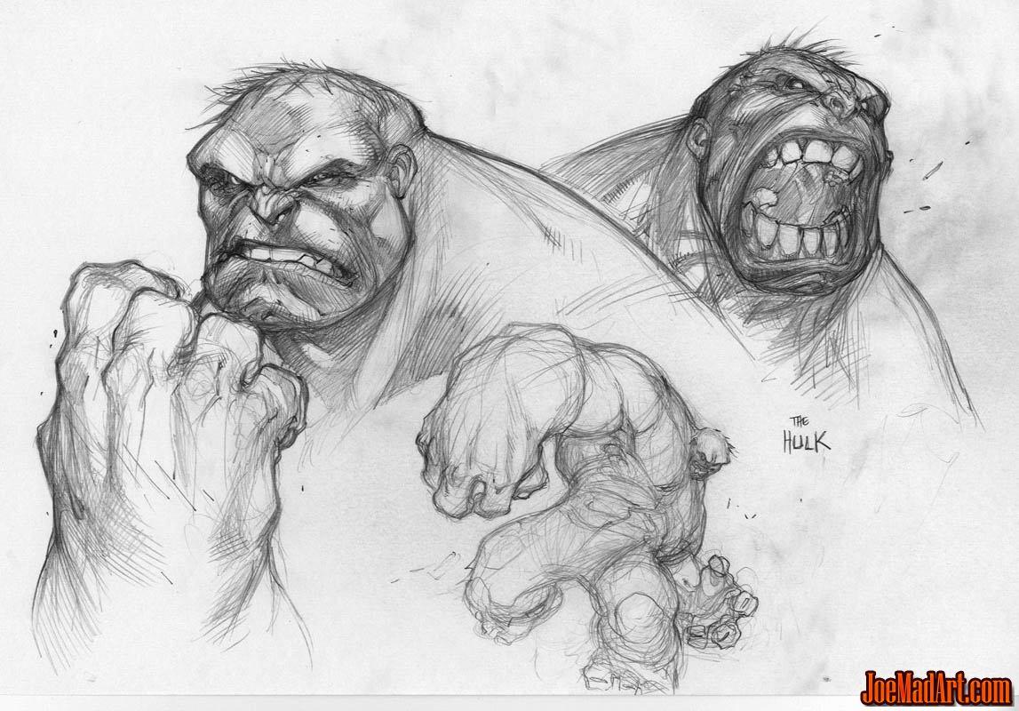 Wizard Magazine #168 Hulk sketch (Pencil)