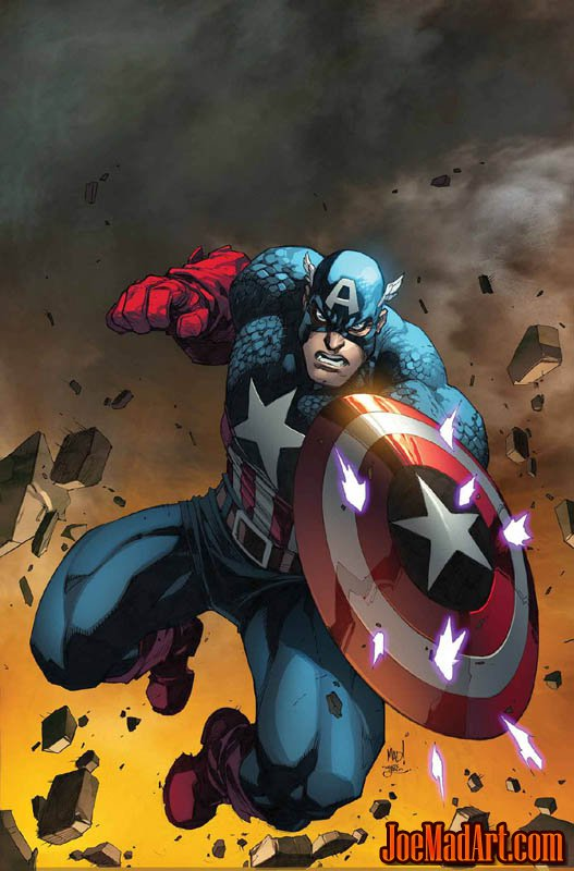 Captain America Steve Rogers #3 cover (Color)