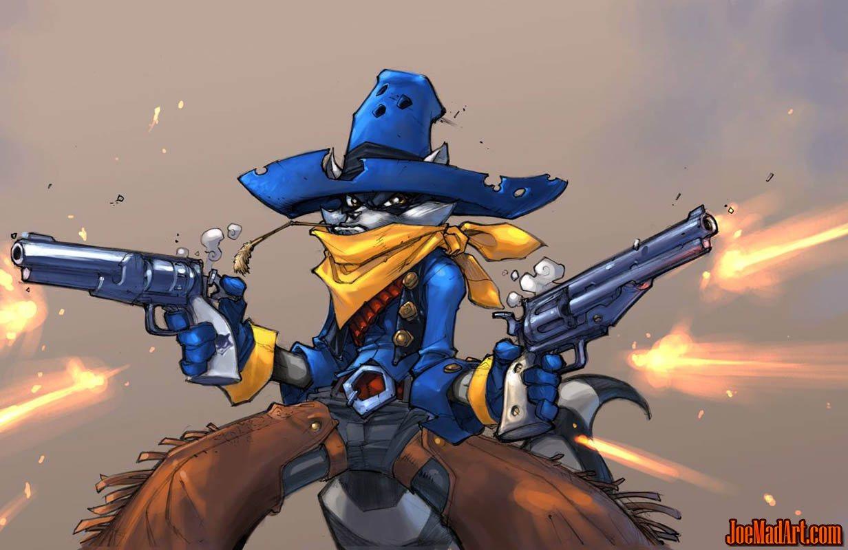 Gunslinger Sly Cooper concept art (Color)
