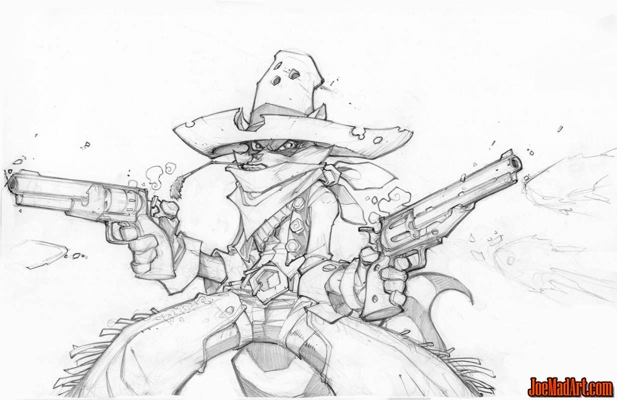 Gunslinger Sly Cooper concept art (Pencil)
