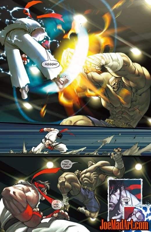 Street Fighter special backup Story page 2/4  (Color)