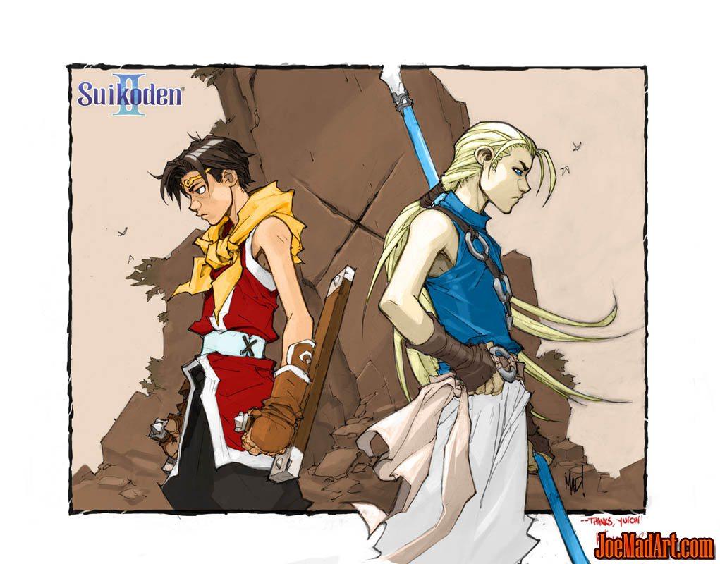 Suikoden II fanart: Riou & Jowy (Color)