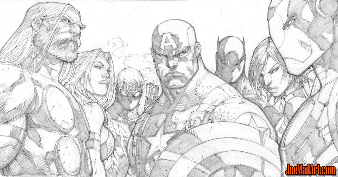 Ultimates 3 volume 3 issue #5 cover (Pencil)