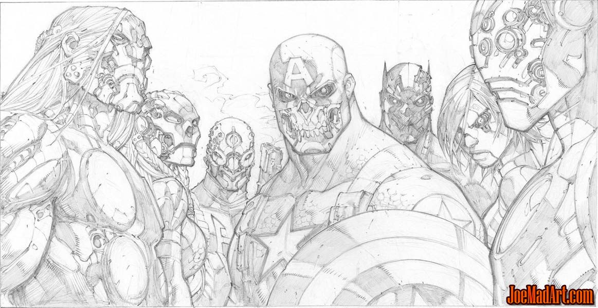 Ultimates 3 volume 3 issue #5 robot Cover  (Pencil)